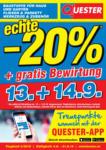 Quester Quester Flugblatt 05.09. bis 21.09. Baustoffe & Fliesen - bis 21.09.2019