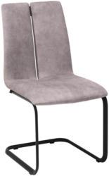 Schwingstuhl in Metall, Textil Anthrazit, Grau