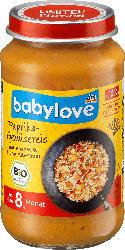 babylove Asia-Paprika-Gemüsereis mit Ananas und Huhn süß-sauer, ab dem 8. Monat