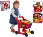 Möbelix Kindereinkaufswagen mit Zubehör Blau, Gelb, Rot