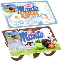 Zott Monte Milch-Dessert + Schoko oder Milch Creme jede 6 x 55 g = 330-g-Packung