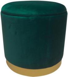 Hocker Velvet B: 35 cm Grün