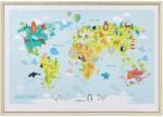mömax Bild World Map Animal Multicolor ca. 50x70x3,5 cm