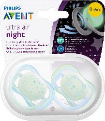 Philips AVENT Schnuller Ultra Air Night, 0-6 Monate, Boy