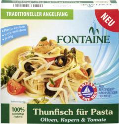 Thunfisch für Pasta - Oliven, Kapern & Tomate