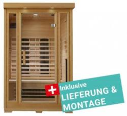 Infrarotkabine Kuppari inkl. Lieferung & Montage Naturfarben