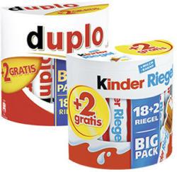 Duplo oder Kinderriegel 18er + 2 Riegel gratis jede 364/420-g-Packung