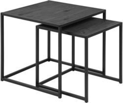 Satztisch in Metall, Holzwerkstoff 50/50/50 cm