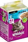 dm-drogerie markt Whiskas Nassfutter für Katzen, Adult 1+, Fresh Menue in Sauce, mit Weissfisch, Thunfisch & Lachs, 6x50g