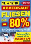 Quester Baustoffhandel GmbH Quester Flugblatt 03.10. bis 20.10. Fliesen Graz - bis 20.10.2019