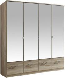 Drehtürenschrank mit Spiegel 180cm Imago, Sägerau Dekor