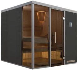 Weka Wellnissage Designsauna II Grigio, links