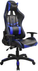 Gamingstuhl  In Lederlook Blau, Schwarz