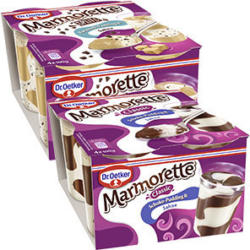 Dr. Oetker Marmorette versch. Sorten, jede 4 x 100 g = 400-g-Packung