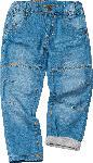 dm-drogerie markt ALANA Kinder Jeans, Gr. 110, in Bio-Baumwolle, blau, Igel