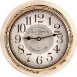 mömax Wr. Neustadt Uhr Baci in Weiss antik ca.Ø24,5cm