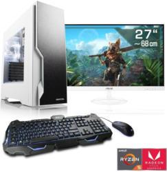 "CSL Multimedia PC Set Ryzen 5 3400G   Vega 11   16GB DDR4   27""TFT »Sprint T8588 Windows 10 Home«"