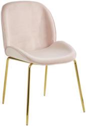 Stuhl in Textil Rosa, Goldfarben