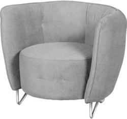 Sessel in Textil Hellgrau