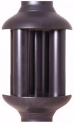 Acerto Abgaswärmetauscher 120x650 mm, schwarz