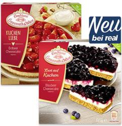 Coppenrath & Wiese  Lust auf Kuchen Erdbeer-Cheesecake oder Blaubeer-Cheesecake  gefroren, jede 550/515-g-Packung und weitere Sorten