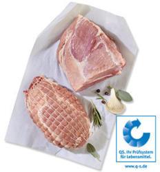 Frischer Schweinebraten oder Schweinegulasch aus der Schulter, je 1 kg