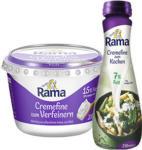 real Rama Cremefine zum Verfeinern, zum Kochen oder zum Aufschlagen, jeder 200-g-Becher/jede 250-ml-Flasche - bis 19.10.2019