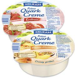 Milram Feine Quark Creme versch. Sorten, jede 200-g-Schale