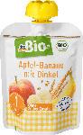 dm-drogerie markt dmBio Quetschbeutel Apfel-Banane mit Dinkel ab 1 Jahr