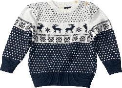ALANA Kinder Pullover, Gr. 110, in Bio-Baumwolle, blau, weiß