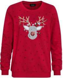 Damen Weihnachtshirt mit Rentier-Motiv