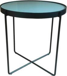 Beistelltisch in Metall, Glas 42,9/42,9/42 cm
