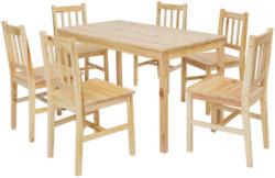 Tischgruppe In Holz Kieferfarben