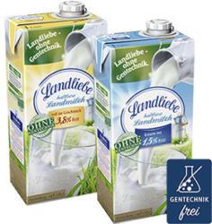 Landliebe haltbare Landmilch 1,5/3,8 % Fett, jede 1-Liter-Packung