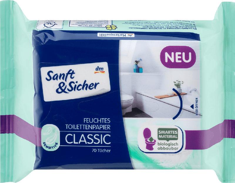 Sanft&Sicher Feuchtes Toilettenpapier Classic Sensitive