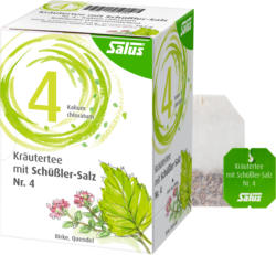 Kräutertee mit Schüßler-Salz Nr. 4