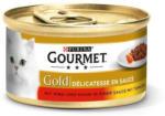 Müller Drogeriemarkt Purina GOURMET Katzennassfutter Gold Délicatesse en Sauce mit Rind & Huhn in Tomatensauce