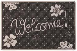 """Fußmatte """"Welcome Klee"""", Silber, ca. 40 x 60 cm"""