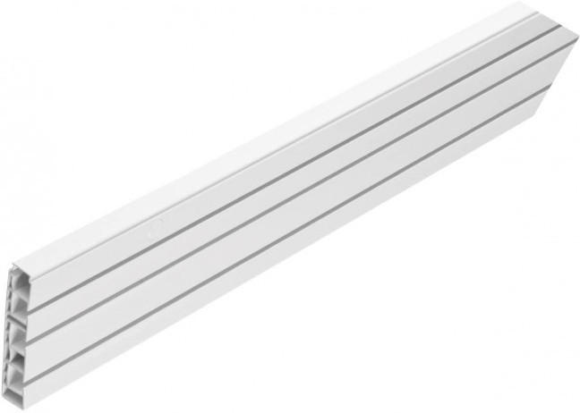 Gardinenschiene mit Hohlkammer, 3lfg., ca. 150 cm, weiß