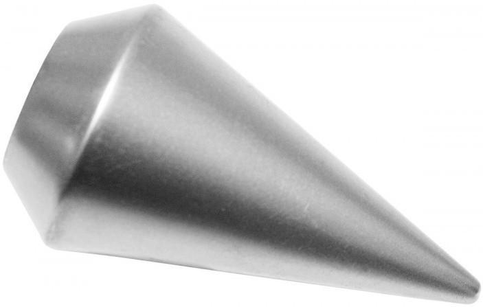 Endknopf Spitze Ø 20, Metall, silber-satin