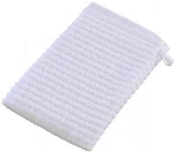 Waschhandschuh Manhattan weiß 15 x 21 cm