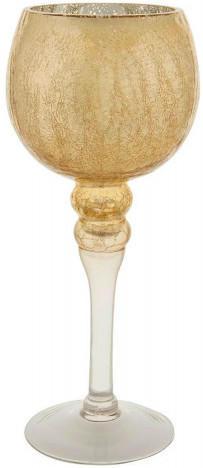 Windlicht Crackle gold ca. 30 cm