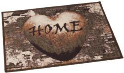 Fußmatte Herz Home braun ca. 50 x 70 cm