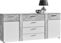 Kommode Trentino Beton-Optik/weiß ca. 180 x 81 x 40 cm