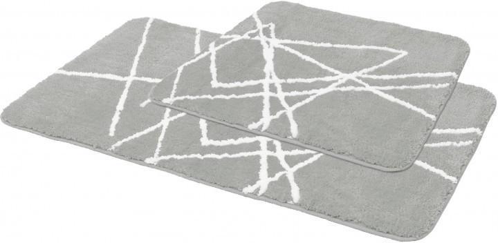 Badgarnitur Blizzard 2-tlg. silber 40 x 50 cm + 60 x 90 cm