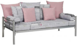 Kissenset grau/rosa 9 teilig