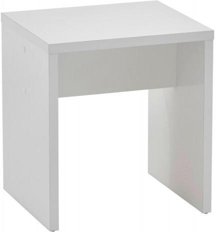 Hocker weiß glänzend ca. 40 x 44 x 35 cm