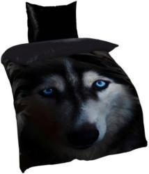 Microfaser Wendebettwäsche Wolf schwarz