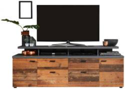 TV-Lowboard Mood Old-Wood-Nachbildung/Beton-Optik dunkel