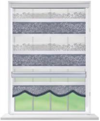 Doppelrollo Rom, weiß silber, ca. 60 x 160 cm